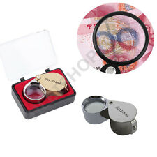 30X Glass Magnifying Magnifier Jeweler Eye Jewelry Loupe Loop DW