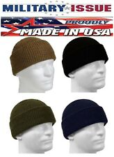 Military Issue Watch Cap 100% Wool Skiing Winter Beanie Hat 5437 8492 5779 8493