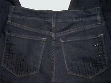 New! NOT YOUR DAUGHTERS JEANS Dazzling Rhinestone DARK WASH SZ 6 Cropped/Capri's