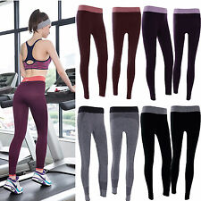 Womens Fitness Leggings Running Yoga Gym Stretchy Exercise Sports Pants Trousers
