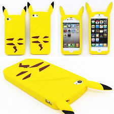 Cartoon Pokemon Pikachu Soft Silicone Phone Back Case Cover For iPhone / Samsung