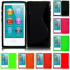 For Apple iPod Nano 7th Gen TPU Rubber Flexible Skin Case Phone Cover