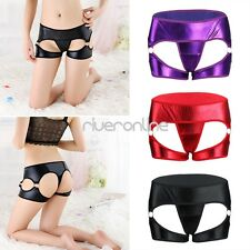 Sexy Womens Lingerie Wetlook Open Butt Bikini Briefs Shorts Underwear Panties