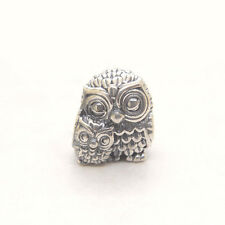 Authentic Genuine S925 Sterling Silver Charming Owls Charm