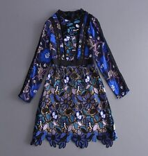 2017 spring and summer occident beautiful printing women dress makings graceful