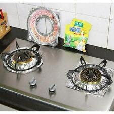 10 Pcs Aluminum Foil Square Round Gas Burner Disposable Bib Liners Stove Covers.