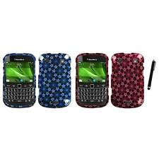 For BlackBerry Bold Touch 9900 9330 Design Snap-On Hard Case Cover Stylus Pen