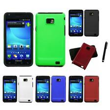 For Samsung Galaxy S2 i9100 Hybrid 2-Piece Hard Soft Case Cover Skin Stylus Pen