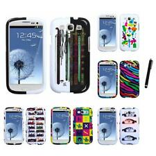 For Samsung Galaxy S3 Design Snap-On Hard Case Phone Cover Stylus Pen