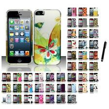 For Apple iPhone 5 Hard Rubberized Matte Snap-On Case Phone Cover Stylus Pen