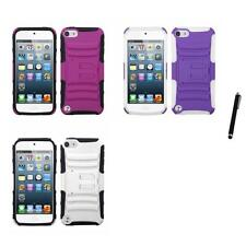 For Apple iPod Touch 5th 6th Gen Hybrid IMPACT Hard TUFF Hybrid Case Stylus Pen