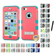 For Apple iPhone 5C Hybrid TUFF IMPACT Phone Case Hard Rugged Cover Stylus Pen