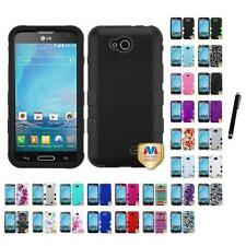 For LG Optimus L90 Hybrid TUFF IMPACT Phone Case Hard Rugged Cover Stylus Pen