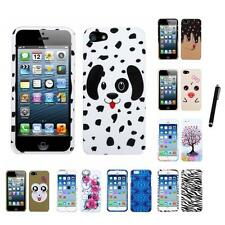 For Apple iPhone 6/6S [4.7] Design Snap-On Hard Case Phone Cover Stylus Pen