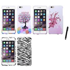 For Apple iPhone 6/6S Plus [5.5] Design Snap-On Hard Case Phone Cover Stylus Pen