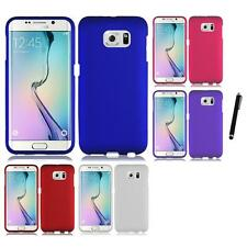 For Samsung Galaxy S6 Edge Rubberized Matte Snap-On Hard Case Cover Stylus Pen