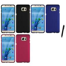 For Samsung Galaxy S7 Rubberized Matte Snap-On Hard Case Phone Cover Stylus Pen