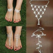 Crystal Beach Toe Ring Ankle Bracelet Jewelry Foot Chain