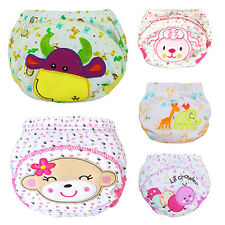 Cute Baby Training Pants Reusable Cloth Washable Infant Nappies Diaper Showy