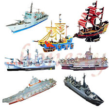 Paper Model 3D DIY Toy Puzzle Game Gift The Era Of Navigation boat Pirate Ship