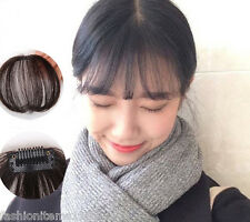 Thin Neat Air Bangs/Fringe Clip In Hair Extension Remy Human Hairpiece hand tied