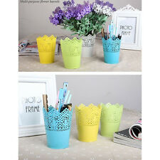 Desk Organizer Tidy Pencil Tray Container Home Office Flower Pen Holder Decor