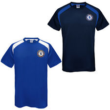Chelsea FC Official Football Gift Mens Poly Training Kit T-Shirt