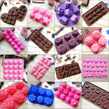 Chocolate Cake Cookie Muffin Jelly Baking Silicone Bakeware Mould Mold Xmas 024m