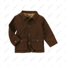 NWT Gymboree EMPIRE STATE EXPRESS COAT JACKET bOYS 3-4 5-6 nEW bROWN hOLIDAY