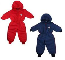 Boys Snow Suit Coat Swallow Motif Padded Hooded Ski Suit Pramsuit 6 to 18 Months