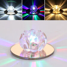 VFN 3W LED Small Flower Crystal Ceiling Light Colorful Warm White Bedroom Lamp