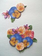 3D - U Pick - Pansy Flowers Scrapbook Card Embellishment 1462