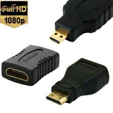 1080P HDMI to Mini Type C/Micro Gander Type D Coupler Adapter Connector HDTV LCD