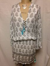 Cool Change Paisley Tunic Swimsuit Cover Up L CHGOA Black/Saf  NWT