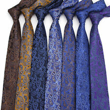 10 Colors Men's Paisley Neck Ties Jacquard Polyester Neckties Cravat 6 CM
