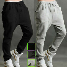 Mens Casual Jogger BBoy Dance Baggy Harem Pants Slacks Trousers Sport Sweatpants