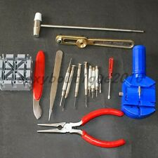 16 Pcs Watch Repair Tool Set Pin Strap Adjustable Kit Guides Remover Screwdriver