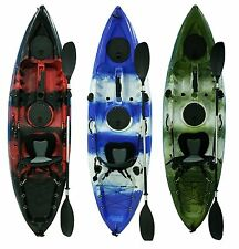 fishing kayaks 3 colours to choose- kayaks packages seats, paddles, rod holders