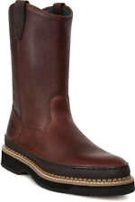 Georgia Giant Mens Soggy Brown Leather Wellington Pull On Work Boots