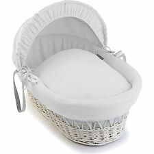 Luxury British Made Soft Waffle/Square Moses Basket Covers Bedding Dressing