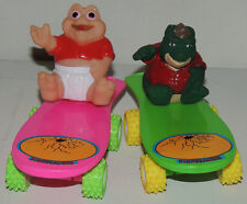 Scarce Dinosaurs BABY SINCLAIR & EARL Vintage Disney Figures Skateboards