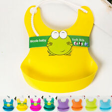 Aprons Feeding Lunch Bibs Saliva Unisex Kids Infant Waterproof Silicone Baby New