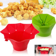 Silicone Microwave Magic Popcorn Maker Container Healthy Cooking Kitchen Tools
