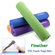 Yoga Mat Fitness Gym Workout Exercise Camping Pilates Blanket Non Slip 6mm Thick