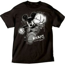 Disney Mens T-Shirt Mickey Mouse Smash Black