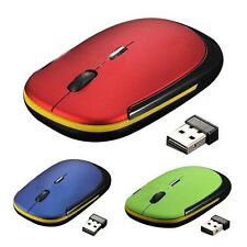 Ultra-Slim Mini USB Wireless Optical Wheel Mouse Mice for All Laptop HP Dell LW