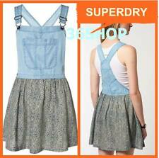 RRP £45 ~ New Womens Superdry Dungaree Blue Dress - M / L