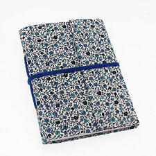 Fair Trade Handmade Daisy Blue Cotton Covered Notebook Diary, Recycled Paper