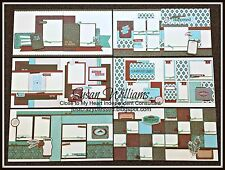 Close to My Heart CTMH Scrapbook Layout Page JACKSON Kit w/ Cutting guide