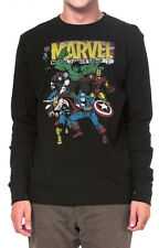 Marvel Comics The Avengers Retro Vintage Mens Long Sleeve Thermal Shirt S-XL